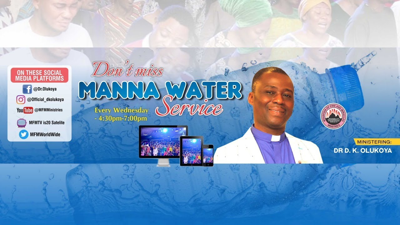 MFM Special Manna Water Service 23 September 2020